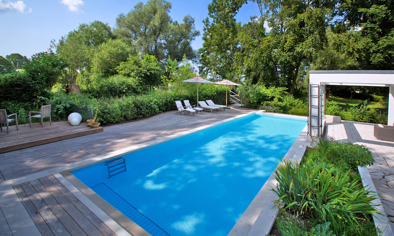 Badesee vor der haust r pool magazin for Garten pool 457x122